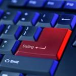 Toetsenbord met de knop: Online Dating