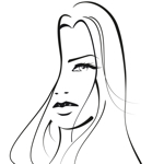 Tekening van een mooie vrouw