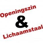Tekst: lichaamstaal & openingszin