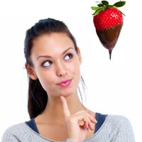 Aardbij in chocolade; verleiden via SMS en Whatsapp