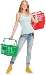 Vrouwen versieren in de supermarkt