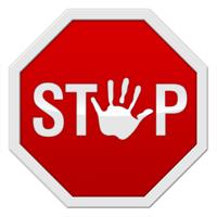 Stopbord: Geen relatie aangaan