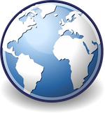 Afbeelding aardbol: Facebook verovert wereld; globalisering