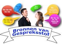 Man en vrouw converseren: gespreksstof in overvloed