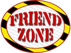 Friendzone afgebeeld als gevarenzone