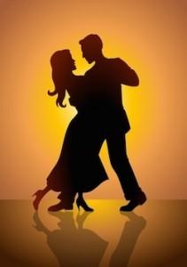 Twee mensen die salsa dansen