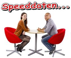 Twee singles tijdens het speeddaten